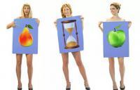 женщины показывают свои типы фигур