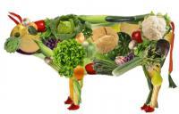 фигура коровы из овощей