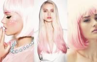 девушки с розово-белыми волосами